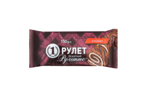 Рулет бисквитный с какао Рулетте №1 м/у 150г
