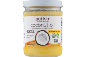 Nutiva Coconut Oil With Organic Buttery Flavor