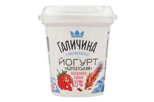 Йогурт 2.5% Клубника-злаки Галичина ст 280г