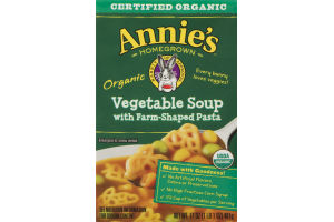 Annie's Homegrown Organic Vegetable Soup With Farm-Shaped Pasta