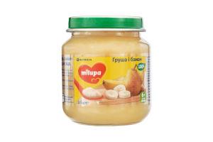 Пюре для детей от 6мес Груша и Банан Milupa с/б 125г
