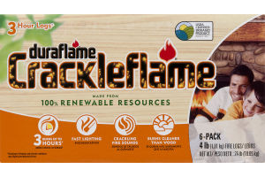 Duraflame Crackleflame Fire Logs 3 Hour Logs - 6 CT