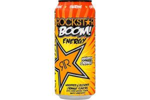 Rockstar Boom Energy Drink Whipped Orange