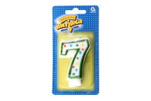 Свічка-цифра 7 Веселая затея 1502-0149 7,6см