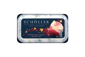 Морозиво ванільне з грейпфрутовим сорбетом та апельсиновим соусом Scholler п/у 633г
