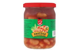 ВАРТО Квасоля в томатному соусі стерилізована 500г