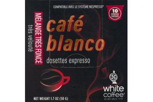 Cafe Blanco Pitch Dark Blend Espresso Capsules - 10 CT