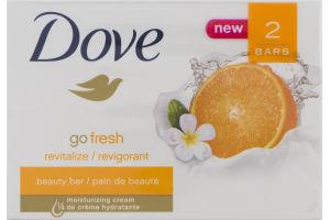 Dove Go Fresh Beauty Bar Revitalize - 2 CT