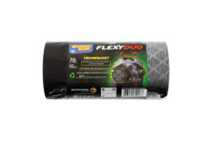 Пакети для сміття з затяжками 70л Flexyduo Фрекен Бок 10шт