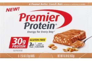 Premier Protein High Protein Bar Peanut Butter Crunch - 6 CT