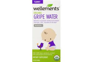 Wellements Tummy Organic Gripe Water Newborn+ Dietary Supplement
