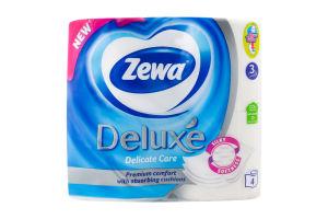 Папір туалетний 3-х шаровий Deluxe Zewa 4шт