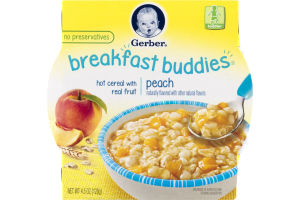 Gerber Breakfast Buddies Hot Cereal with Real Fruit Peach