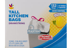Ahold Tall Kitchen Bags Drawstring - 132 CT