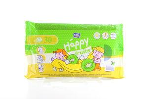 Салфетки Baby Happy Fruits влажные д/детей с аром банана и киви Bella м/у 30шт