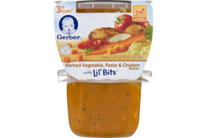 Gerber 3rd Foods Herbed Vegetable, Pasta & Chicken Dinner with Lil' Bits - 2 CT