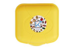"""Ланч-бокс пластиковий 0,9 л 125×115×75 мм, колір мікс, ТМ """"KRION"""""""