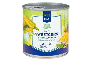 Кукурудза цукрова делікатесна консервована Metro Chef з/б 340г