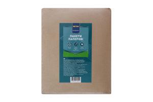 Пакеты бумажные крафт бурые 310х250х60мм Metro Professional 50шт