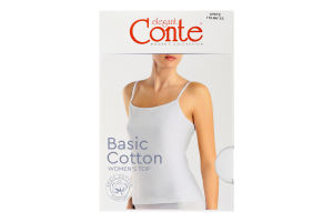 Топ жіночий Conte elegant Basic Collection №LT2019 170-84/XS white