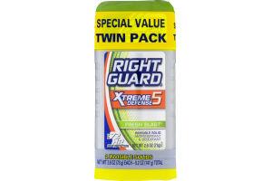 Right Guard Xtreme Defense 5 Antiperspirant & Deodorant Fresh Blast - 2 PK