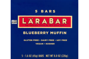 Larabar The Original Fruit & Nut Food Bar Blueberry Muffin - 5 CT