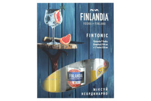 Набор водка Grapefruit Finlandia 0.5л 37.5% + напитки Indian Tonic Schweppes 2*0,5л к/у