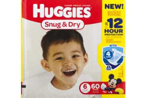 Huggies Snug & Dry Diapers Size 6 - 60 CT