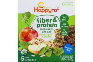 HappyTot Organics Bar Fiber & Protein Organic Apples & Spinach