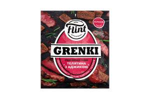 Гренки ржаные со вкусом телятины с аджикой Flint м/у 70г