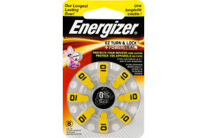 Energizer Zinc Air Batteries 10 - 8 CT