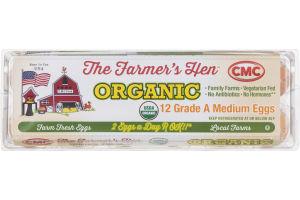 The Farmer's Hen Organic Grade A Medium Eggs - 12 CT
