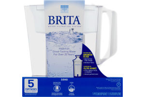 Brita Water Filtration System Pitcher 5 Cup