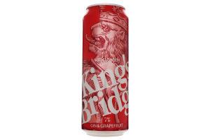 Напій слабоалкогольний 0.5л 7% Gin&Grapefruit King`s Bridge з/б