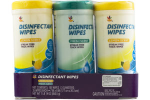 Ahold Disinfectant Wipes Lemon and Fresh Scent - 3 PK