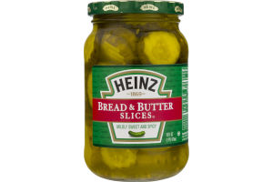 Heinz Pickle Bread & Butter Slices Midly Sweet and Spicy