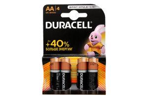 Батарейки AA LR 6-MN1500 Duracell 4шт