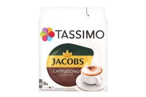 Набор для приготовления горячего кофейного напитка Cappuccino Tassimo Jacobs м/у 260г