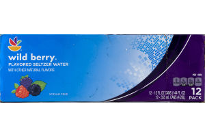 Ahold Wild Berry Flavored Seltzer Water -12 CT