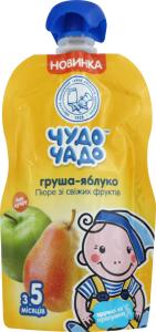 Пюре для дітей від 5міс Груша-яблуко Чудо-чадо д/п 90г