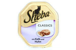 Корм Sheba Classics паштет з телятиною та куркою 100г х32