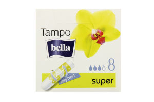 Тампоны Tampo Premium comfort Super б/апл Bella 8шт