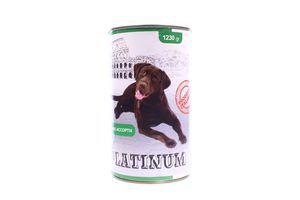Корм Platinum для собак мясне асорті 1230г ж/б х12