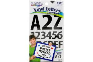 ArtSkills Vinyl Letters & Numbers - 250 PC
