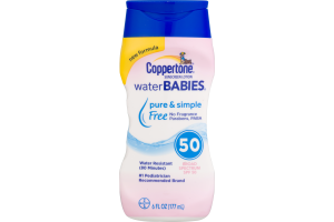 Coppertone Sunscreen Lotion Water Babies SPF 50
