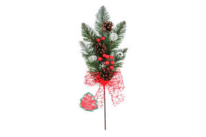Прикраса новорічна 330х150х50мм №769370 Гілка ялинки Mislt 1шт