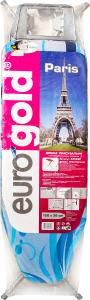Доска гладильная Eurogold мет+подрук+розет.120х38