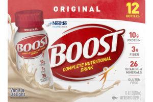 Boost Complete Nutritional Drink Original Vanilla Delight - 12 CT