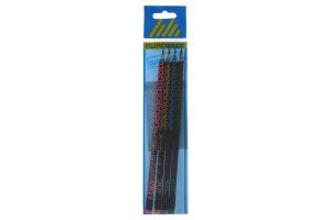 Набір олівців графітових Buromax HB, Bubbles, ассорті, з ластиком, 4 штуки, блістер BM.8524-4