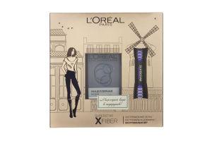 Набор декоративной косметики Тушь для ресниц Superstar X Fiber+Мицеллярная вода L'Oreal 1шт